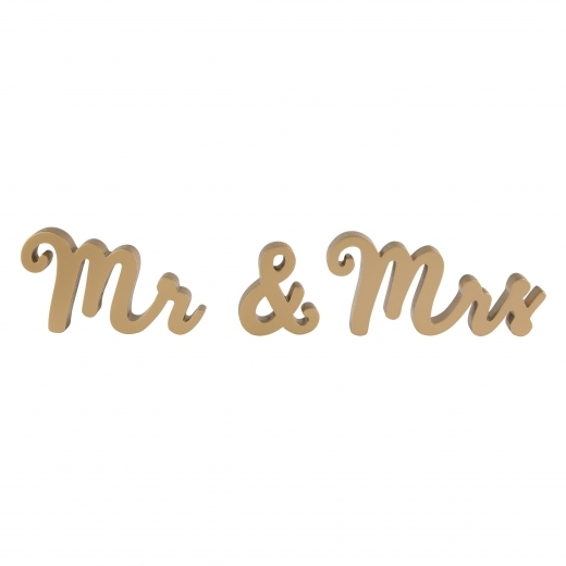 Sass & Belle Mr & Mrs Standing Wooden Letters, Gold