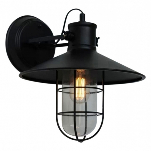 Edison Harbour Pivot Caged Wall Light - Black
