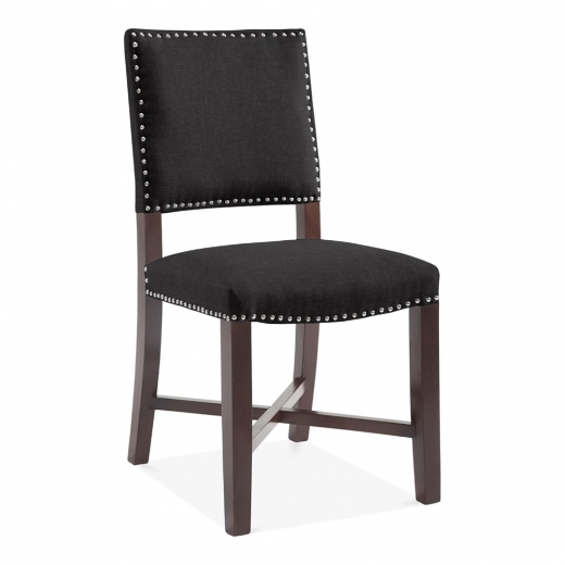 Cult Living Leicester Dining Chair, Wool Upholstered, Black