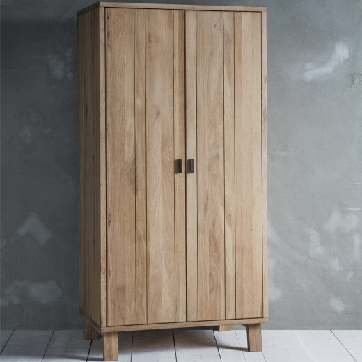 Waldorf Contemporary Double Wardrobe, Oak