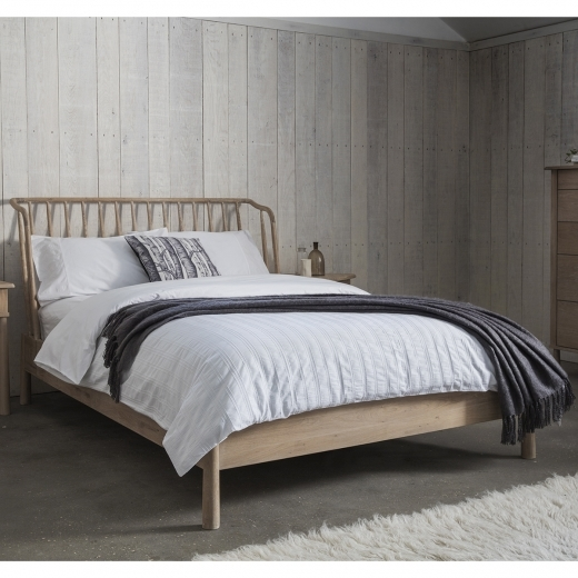 Cult Living Alpine Contemporary King Size Bed Frame, Oak