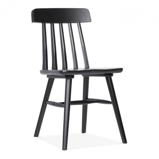 Cult Living Windsor Rafter Wooden Dining Chair - Black