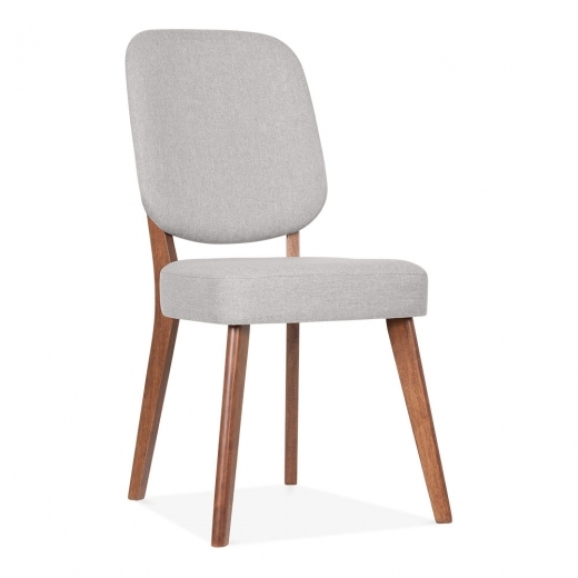 Cult Living Pinto Upholstered Dining Chair - Walnut / Light Grey