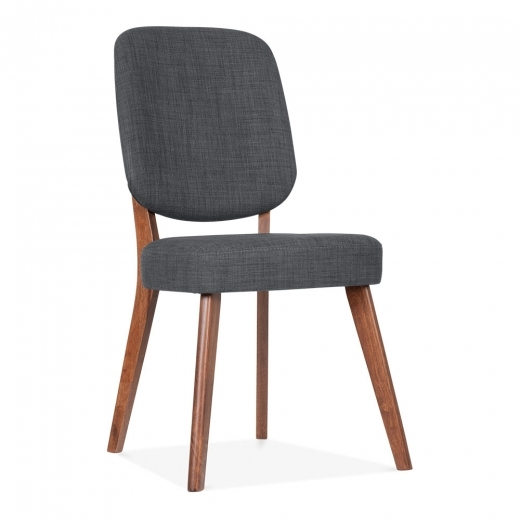 Cult Living Pinto Upholstered Dining Chair - Walnut / Dark Grey