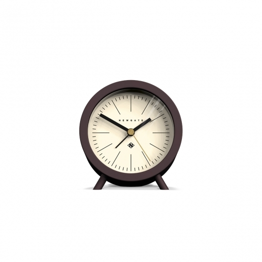 Newgate The Fred Alarm Clock - Chocolate Brown