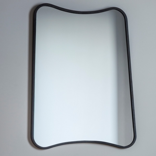 Inca Contemporary Rectangle Wall Mirror, Black