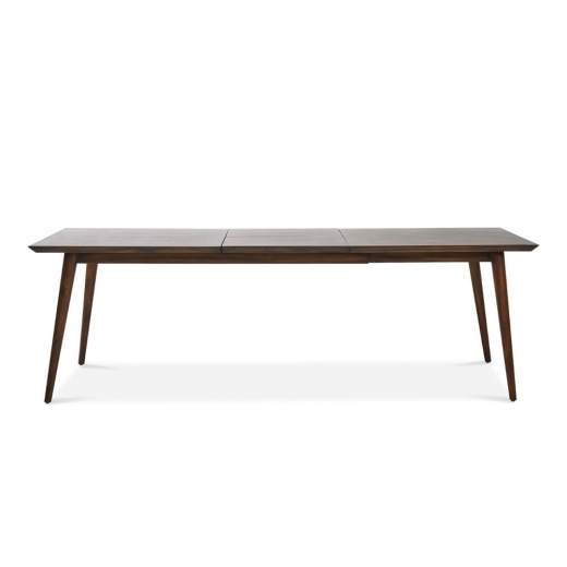 Aspen Large Extending Dining Table, Solid Acacia, Dark Brown 180cm