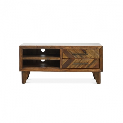 Parq Media Unit, Reclaimed Pine, Light Brown