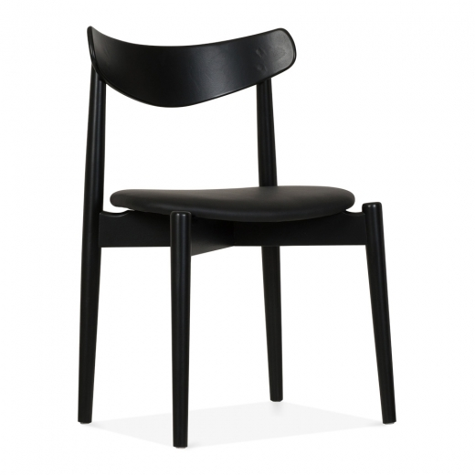 Cult Design Concept Dining Chair - Black / Black Seat