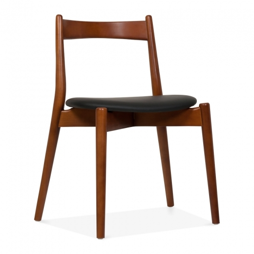 Cult Design Soho Dining Chair - Walnut / Black Seat