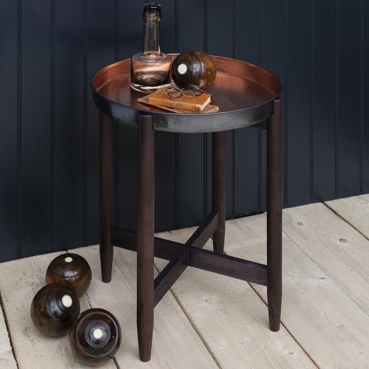 Coffee Table Copper Tray: Astoria Vintage Metal Tray Table Copper