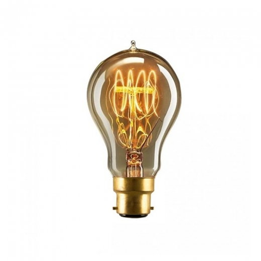 Edison A60 Quad Loop Filament Dimmable Light Bulb - B22