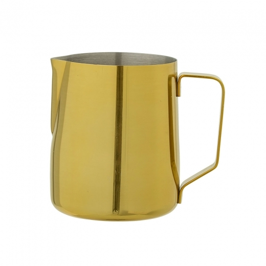 Bloomingville Stainless Steel Milk Jug with Handle, Gold