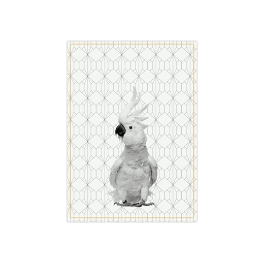 Present Time Hexagon Cockatoo Tea Towel - Yellow