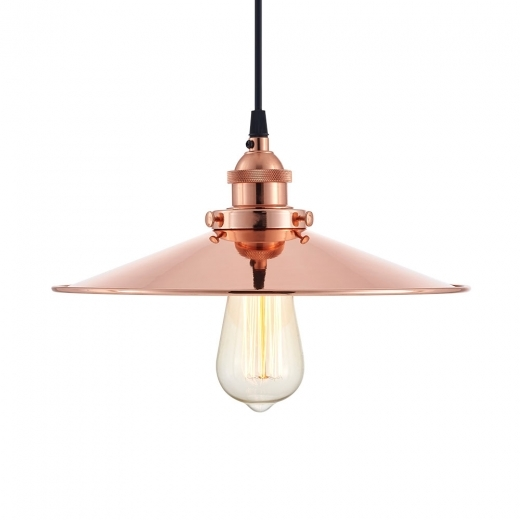 Cult Living Ludo Industrial Metal Pendant Light, Copper - Clearance Sale