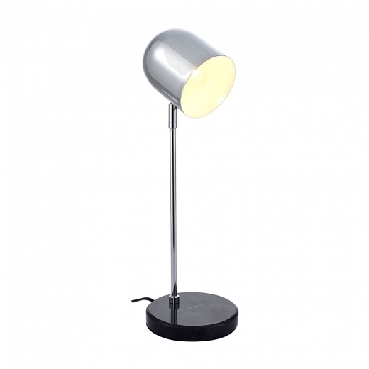 Cult Living Orson Marble Desk Lamp, Black and Chrome