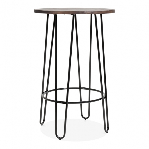 Cult Living Hairpin High Table With Solid Wood Top - Black