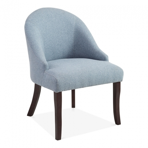 Cult Living Harlow Modern Accent Chair, Wool Upholstered, Blue
