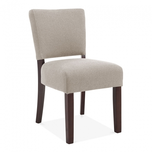 Cult Living Finchley Dining Chair, Wool Upholstered, Cream