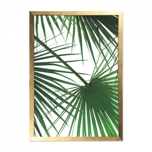 Cult Living Palm Print Framed Poster, Gold and Green, A2