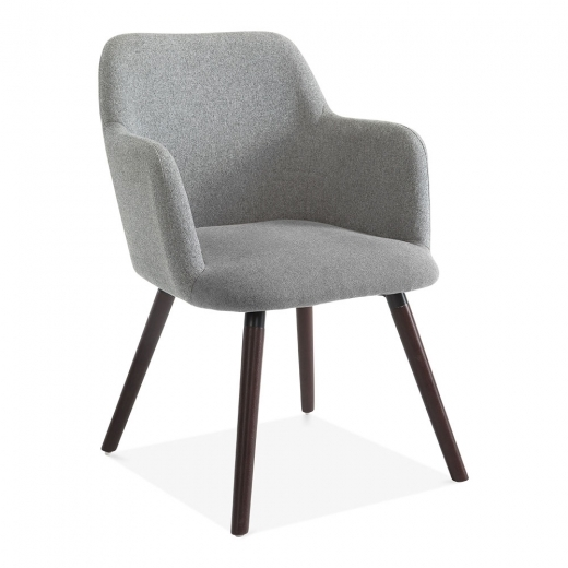 Cult Living Hanover Dining Small Armchair, Wool Upholstered, Grey