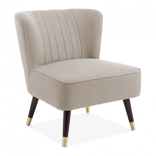 Cult Living Arizona Mid Century Cocktail Chair, Wool Upholstered, Cream