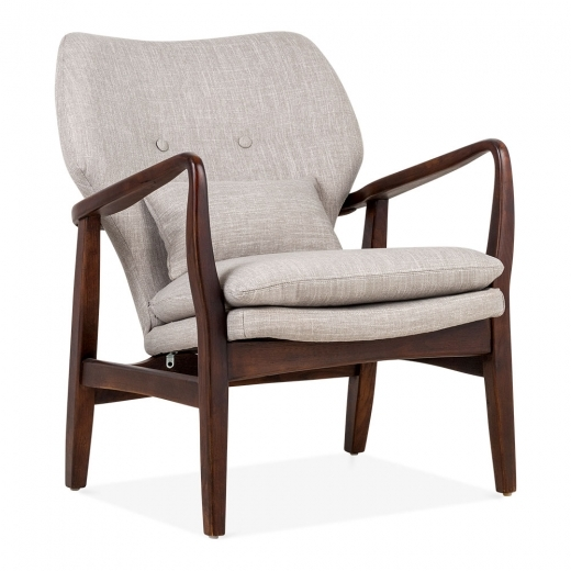 Cult Living Hampton Armchair, Fabric Upholstered, Light Grey