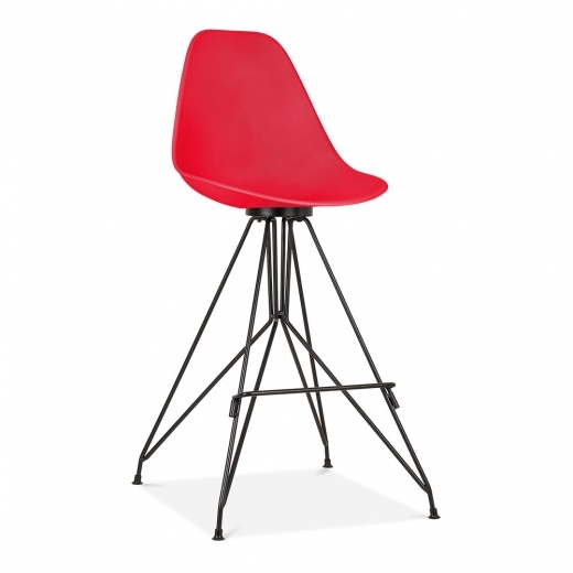 Cult Design Moda Bar Stool with Backrest CD1 - Red