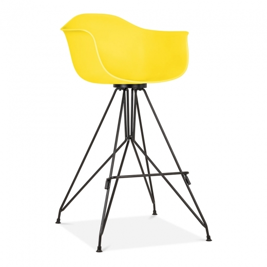 Cult Design Moda Bar Stool with Armrest CD1 - Yellow