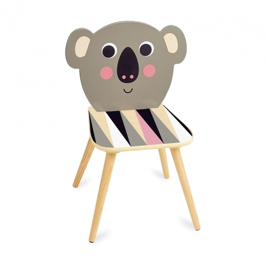 Vilac Koa Koala Kids Wooden Chair, Natural and Grey
