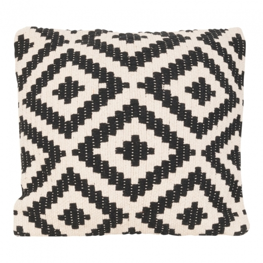 Cult Living Aztec Woven Cushion, Black and White