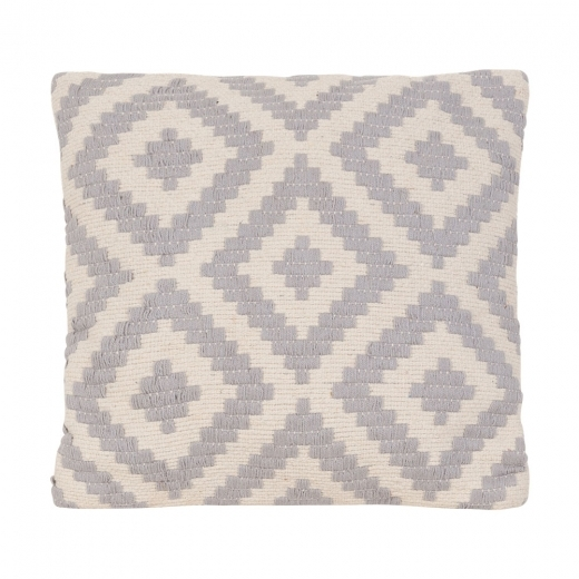 Cult Living Aztec Woven Cushion, Grey and White