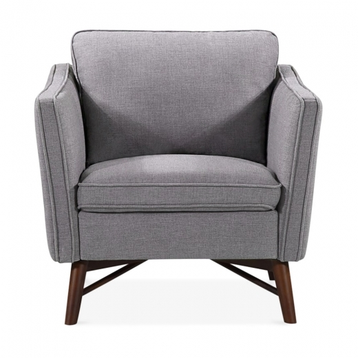 Cult Living Walton Armchair, Fabric Upholstered, Grey