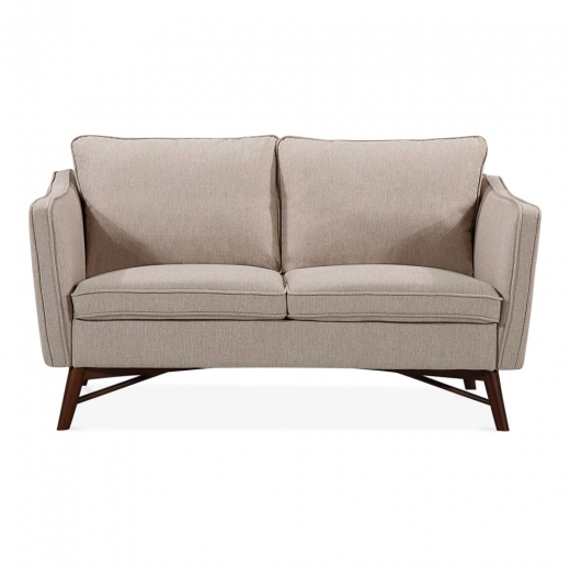 Cult Living Walton 2 Seater Small Sofa, Fabric Upholstered, Cream
