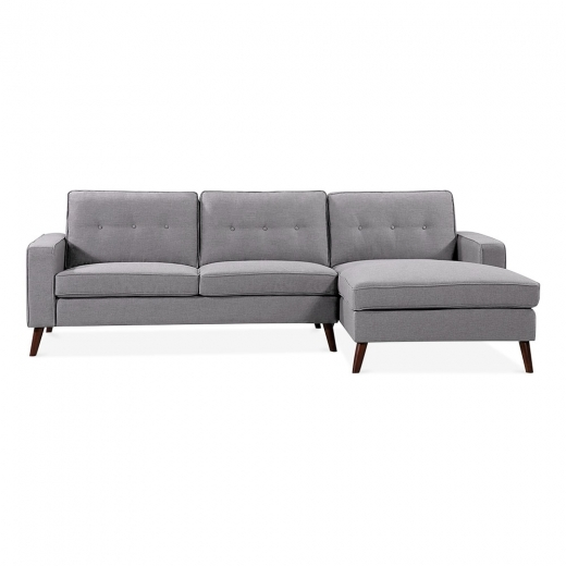 Cult Living Madison Right Hand Corner Sofa, Fabric Upholstered, Grey