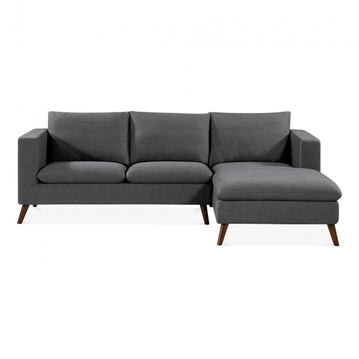 Cult Living Clinton Right Hand Corner Sofa, Fabric Upholstered, Dark Grey