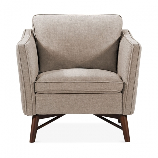 Cult Living Walton Armchair, Fabric Upholstered, Cream