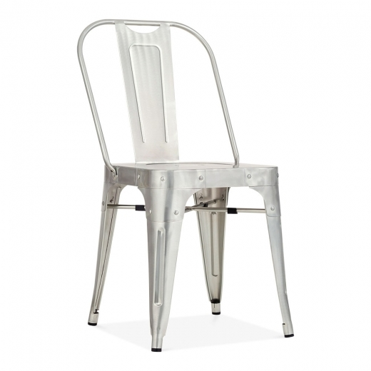 Cult Living Shoreditch Metal Side Chair, Galvanised