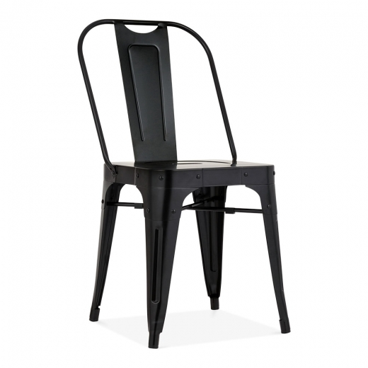 Cult Living Shoreditch Metal Side Chair, Black