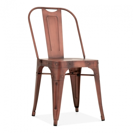Cult Living Shoreditch Metal Side Chair, Vintage Copper