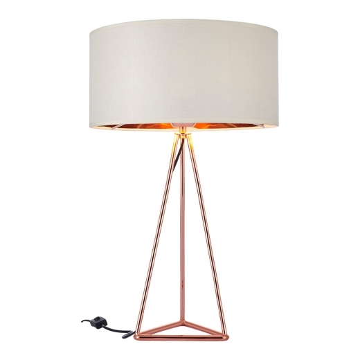 Cult Living Orion Geometric Tripod Table Lamp, Copper and White