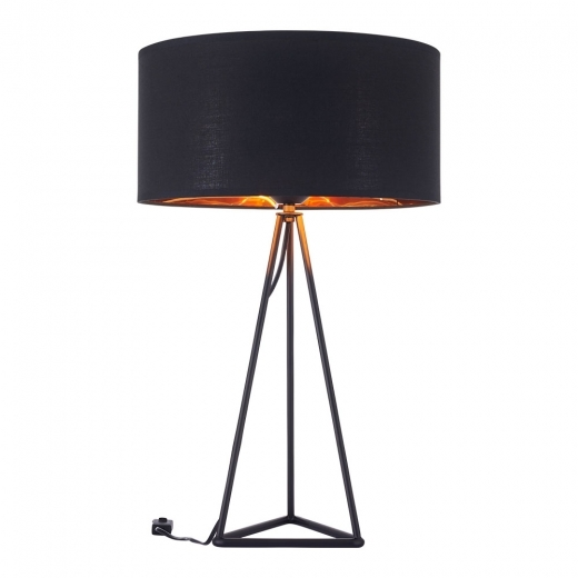 Cult Living Orion Geometric Tripod Table Lamp, Black and Copper