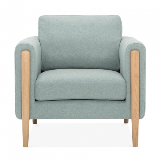 Cult Living Crawford Armchair, Fabric Upholstered, Soft Teal
