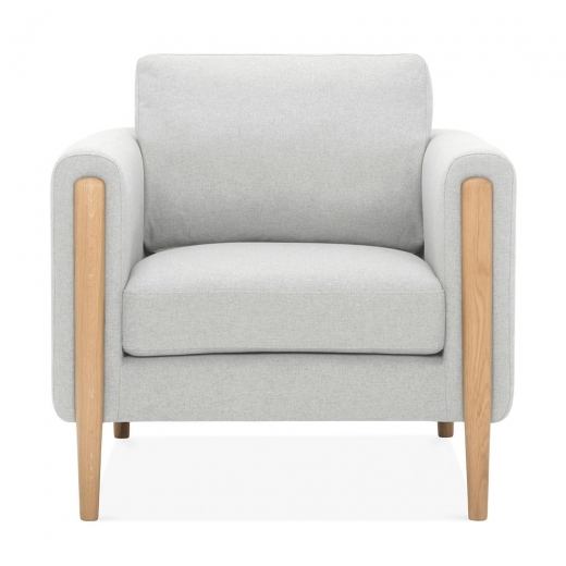 Cult Living Crawford Armchair, Fabric Upholstered, Light Grey