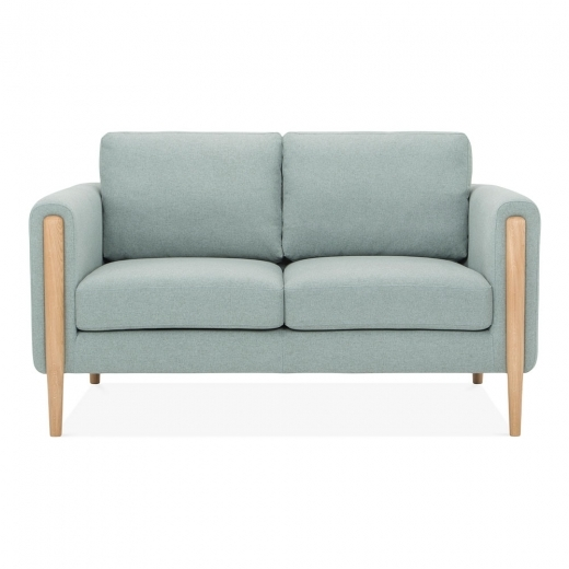 Cult Living Crawford 2 Seater Small Sofa, Fabric Upholstered, Soft Teal