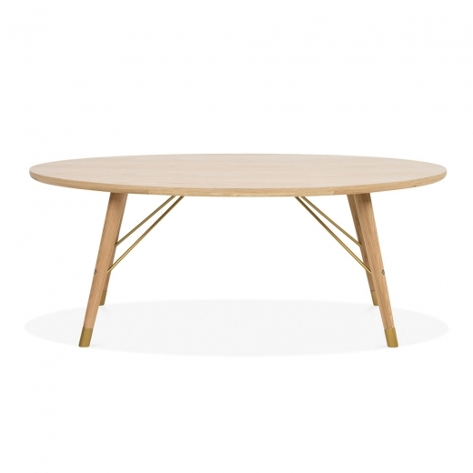 Cult Living Iris Oval Coffee Table, Oak Wood, Natural 120cm