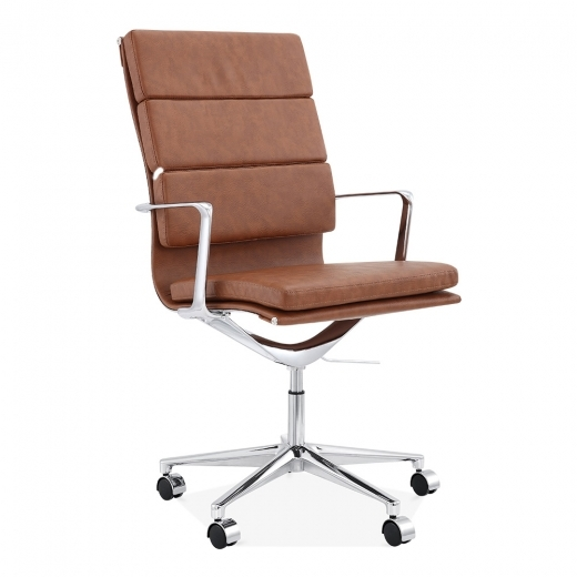 Cult Living Soft Pad Office Chair with High Back – Coffee