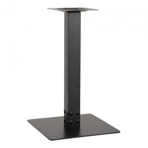Cult Living Encor Sqaure Cafe Table Base, Stainless Steel, Black Finish