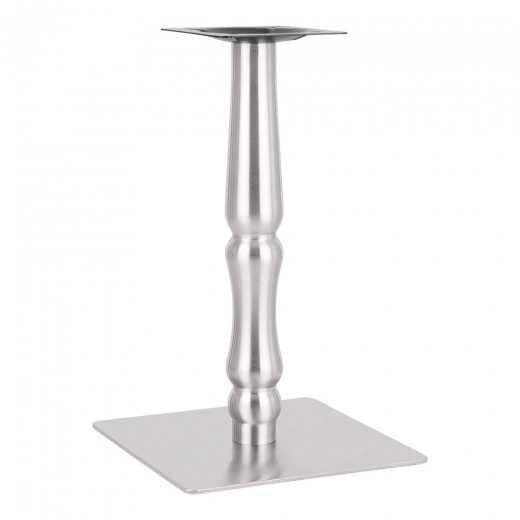 Cult Living Arthaus Stainless Steel Cafe Table Base, Chrome Finish