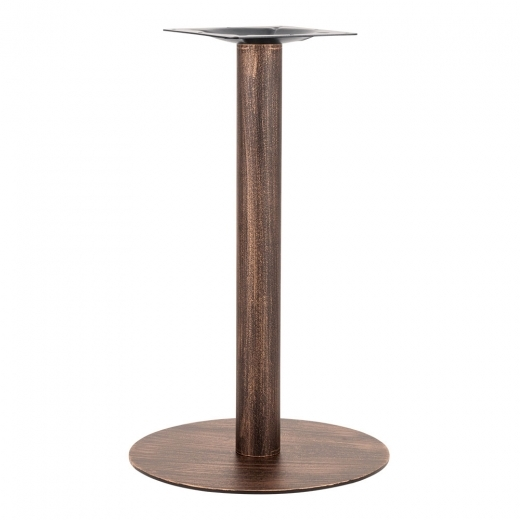 Cult Living Arleigh Round Cafe Table Base, Stainless Steel, Vintage Brass Finish